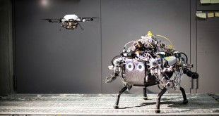 Dron y robot crean mapa experimento Zurich