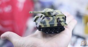 Mini tanque sigue líneas