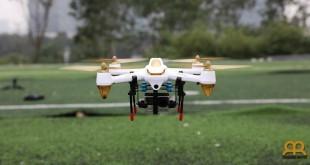 Dron Hubsan H501S volando