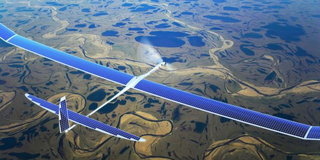 Dron solar Aquila de Facebook