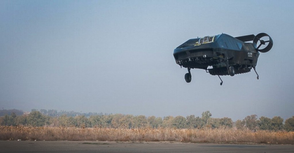 Aeronave Cormorán durante el vuelo