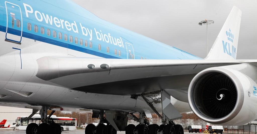 Aviones y biocombustible