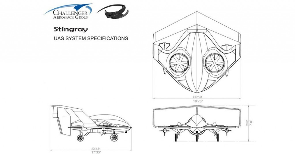 Diagrama del dron Stingray