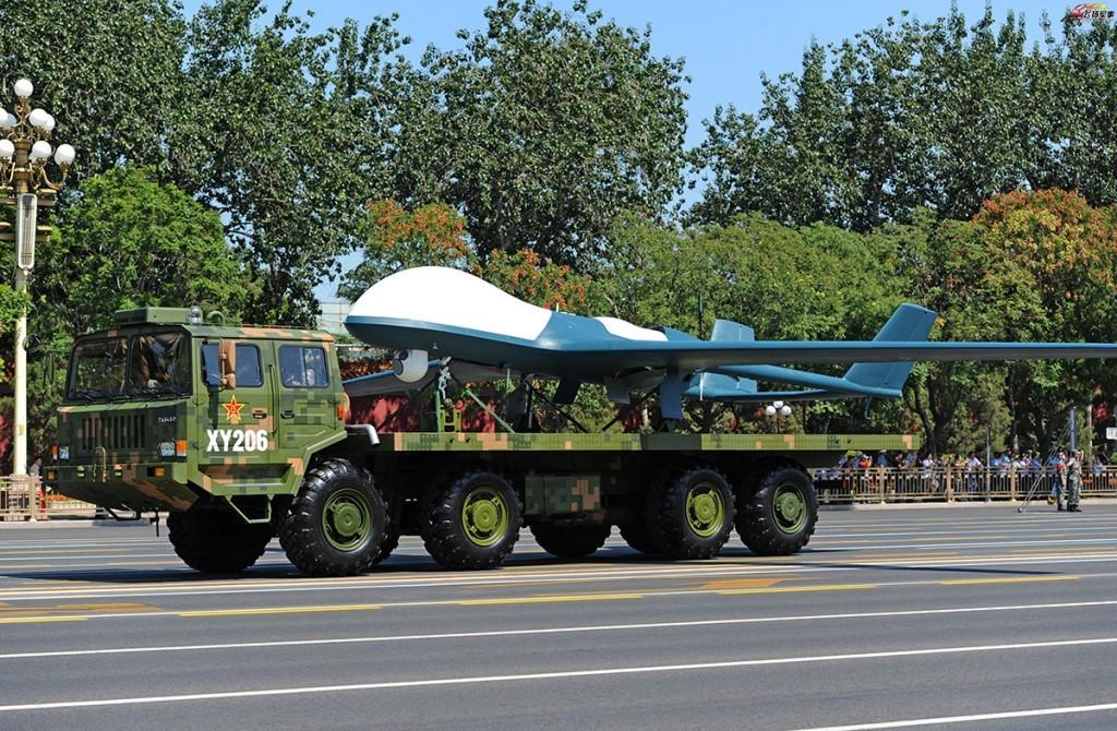 Dron militar chino en un desfile