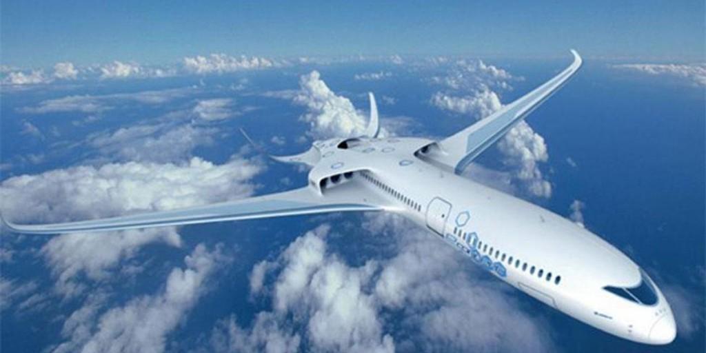 Prototipo de aun avión futurista