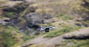 Dron DJI Spark en Islandia