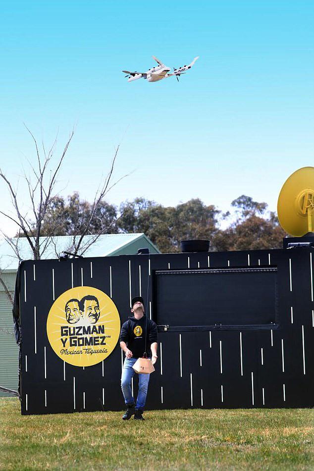 Entrega de burritos por dron
