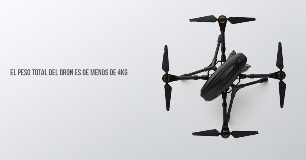 Peso del dron PowerEye de PowerVision