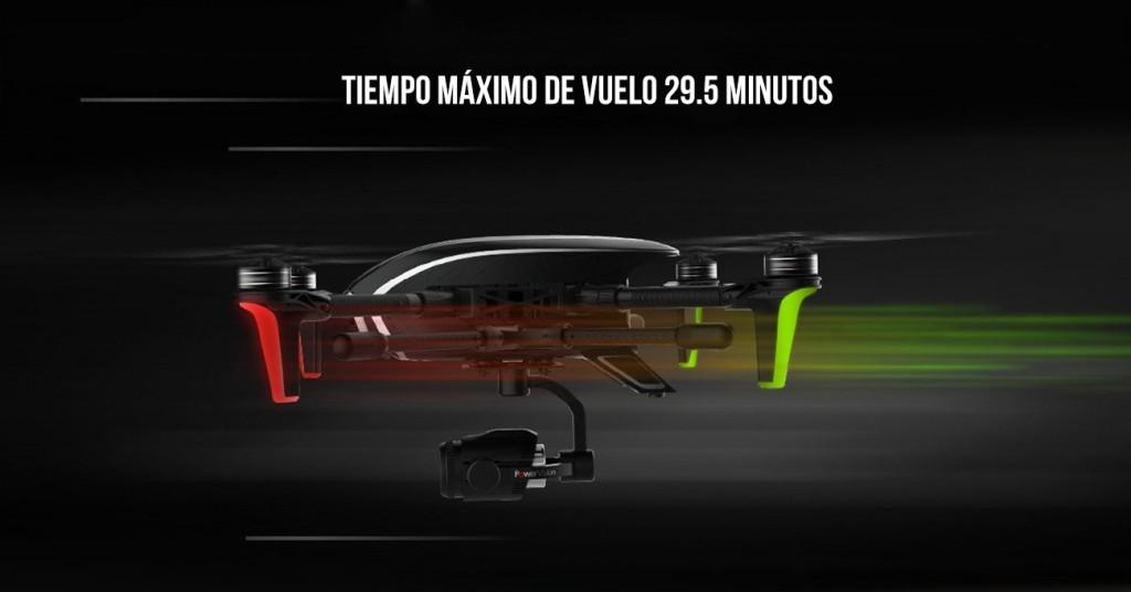 Tiempo de vuelo dron PowerEye